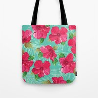 hibiscus Tote Bags featuring Hibiscus by Julscela