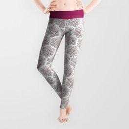 Silver Snowflake Leggings
