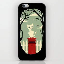 Let's meet at the red post box iPhone Skin