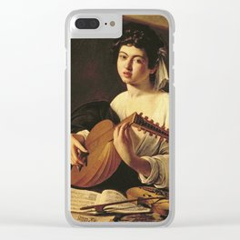 Caravaggio - The Lute Player. Clear iPhone Case