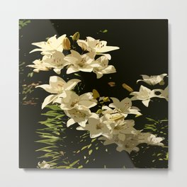 Lily Abstract Metal Print