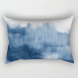Blue watercolor brush strokes Rectangular Pillow
