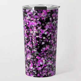 Pink, White and Black bubble texture Travel Mug