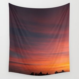 City Sunset Wall Tapestry