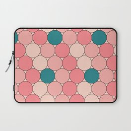 Retro Pattern Dodecagon Pink Laptop Sleeve