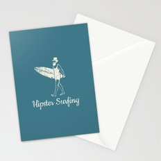 Hipster Surfing Stationery Cards