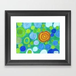 Stones under Water Framed Art Print