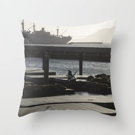 Sea Lion with Wings Throw Pillow