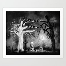 rest in expectation Art Print
