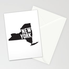 New York Typography Map Stationery Cards