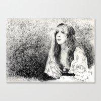 stevie nicks Canvas Prints featuring Stevie nicks by jgart