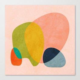 pink shape Canvas Print