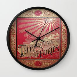 The Star of the Fairies Book Wall Clock