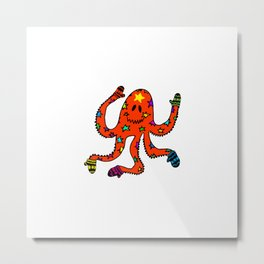 octopus in mittens Metal Print