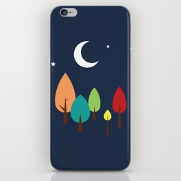 Midnight in the Forest iPhone Skin