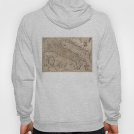 Vintage Map of Italy (1570) Hoody