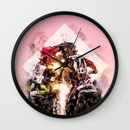 Bikers in love Wall Clock