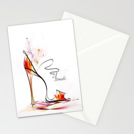 high heel Stationery Cards