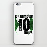 zlatan iPhone & iPod Skins featuring Ibrahimovic 10 Rules by Lara Murasaki