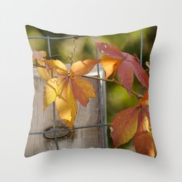 Holding on to the Warmth Throw Pillow