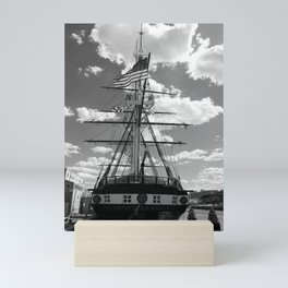 Baltimore Harbor - USS Constellation Mini Art Print