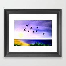 Summer sky. Framed Art Print