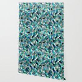 Mermaid Pattern, Sea,Teal, Mint, Aqua, Blue Wallpaper