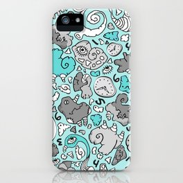 PLAYTIME_BLUE iPhone Case