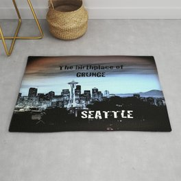 seattle - the birthplace of grunge Rug