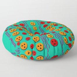 Pumkins dancing in the season pop art Floor Pillow