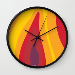 SALAMANDER- FIRE Wall Clock
