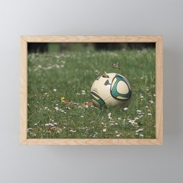 Footgolf and Butterflies Framed Mini Art Print