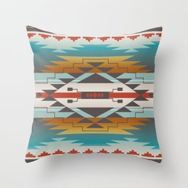 American Native Pattern No. 287 Throw Pillow