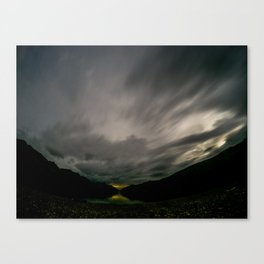 Lake Hawea lake wakatipo blue crystal clear panorama blue fisheye Canvas Print