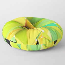 Polygons green Abstract Floor Pillow