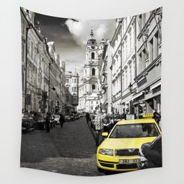 Yellow Cab Wall Tapestry