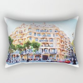 La Pedrera Barcelona Rectangular Pillow