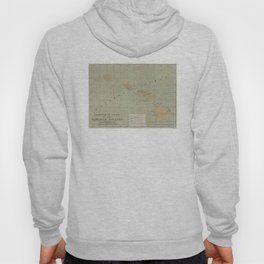 Vintage Lighthouse Map of Hawaii (1898) Hoody