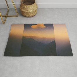 Dreamlands - Sunrise in the Swiss Alps Rug