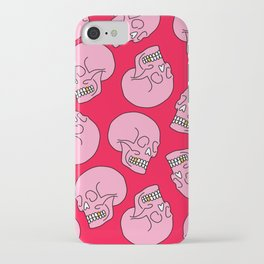 Pink Skull iPhone Case