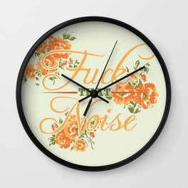 Fuck THAT Noise Wall Clock