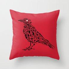 Murderous Crows Throw Pillow