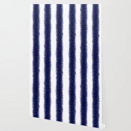 Indigo Pillars Wallpaper