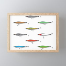 Fishing Plugs Framed Mini Art Print