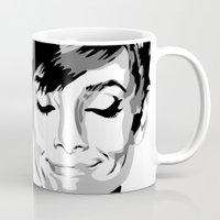 hepburn Mugs featuring Audrey Hepburn by Geryes