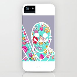 Floral Jason Friday the 13th iPhone Case