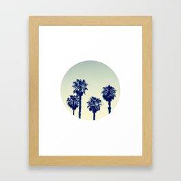 retro palm trees Framed Art Print