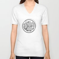 hydra V-neck T-shirts featuring Hail Hydra by Geek Bias