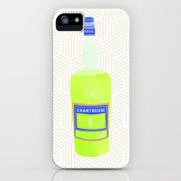 I Heart Chartreuse - liquor bottle print iPhone Case