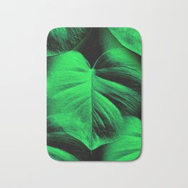 Monstera Leaves Bath Mat